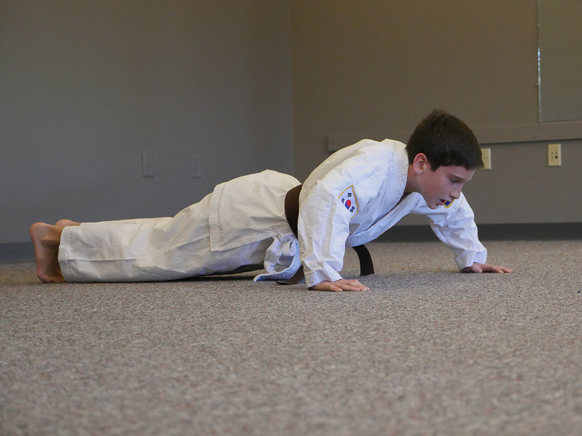 Overland Park Karate Kids Push-Ups