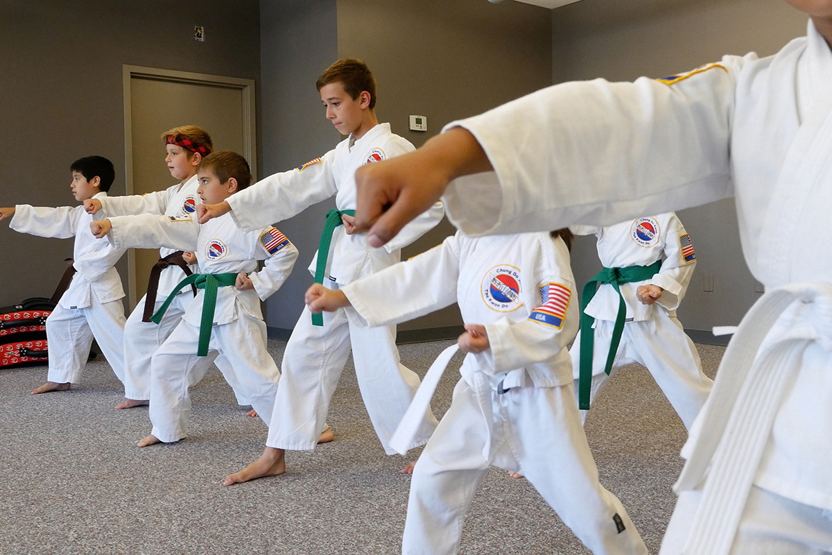 Overland Park Karate Kids Moving Punch